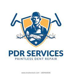 Paintless Dent Repair logo, PDR service logo, automotive company - Buy this stock vector and explore similar vectors at Adobe Stock Service Logo, Logos, Royalty Free Stock Photos, Logo