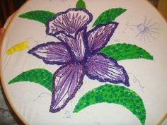 Bordado Fantasía Orquídea y Punto D´ Ojal MORADA MARIMUR 364
