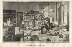 Sir Robert Hart in his study,  published in The Sphere, July 28 1900.