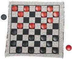 Amazon.com: Jumbo Checker Rug Game: Toys & Games