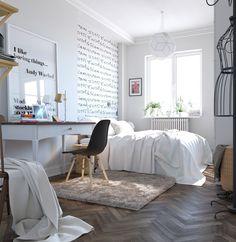 Schickes Schlafzimmer Design im skandinavischen Stil!