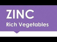 ZINC Rich in Vegetables - NATURAL MINERALS IN FOODS - BENEFITS OF WELLNESS - YouTube Foods High In Zinc, Zinc Deficiency, Health Coach, Health Benefits, Minerals, Wellness, Vegetables, Flu, Natural