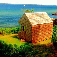 Sauna  overlooking the danish sea #architecture