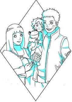 The team of seven future (Family Uzumaki) by byBlackRose