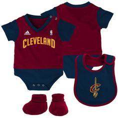 5461c04d508 Newborn  amp  Infant Cleveland Cavaliers adidas Wine Lil  Jersey Bodysuit