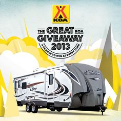 Enter The Great KOA Giveaway to win a Keystone Cougar RV and a Decade of Free Camping. Enter at www.GreatKOAGiveaway.com