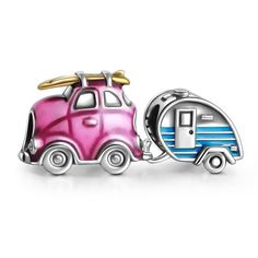 Travel Car and Trailer Charm Set
