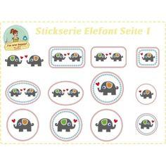 Elefant Stickserie