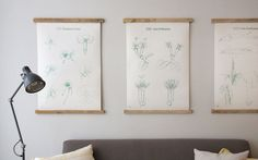 Simple poster display, wood and staple gun Hanging Posters, Hanging Frames, Wall Shelf Arrangement, Framed Jersey, Boy Bath, Poster Display, Simple Poster, Exhibition Display, Photography Projects