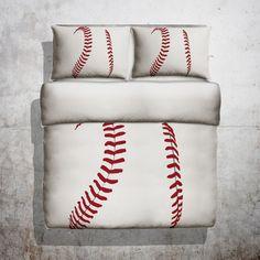 baseball threads duvet by popflysports on etsy - Baseball Bedding