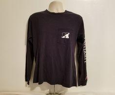Rare John Hopkins University Logo Adult Small Black Long Sleeve Jersey TShirt #OriginalLeague #GraphicTee