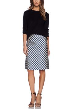 MARC BY MARC JACOBS Check A-Line Skirt