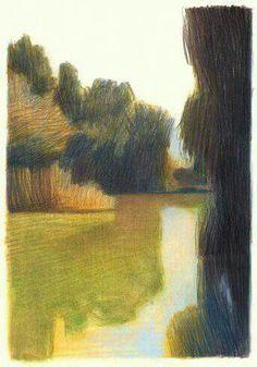 drawings and sketches Landscape Sketch, Landscape Drawings, Abstract Landscape, Landscape Paintings, Art And Illustration, Gravure Illustration, Art Sketches, Art Drawings, Art Plastique