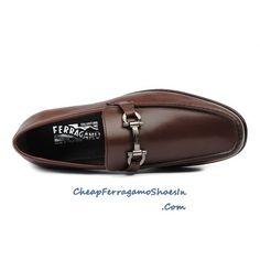 ferragamo mens shoes | Salvatore Ferragamo Mens Shoes Dress Leather Fenice Moccasin Brown ...