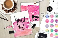 90%OFF! Over 120PNG watercolors - Illustrations