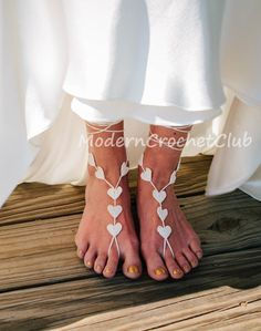 Barefoot Sandals IVORY Heart, Valentine's Day gift,beach wedding accessory,bridal accessories,bridesmaid gift,lace shoes,barefoot sandal