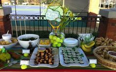 tennis decorations banquet | totally cute tennis party ideas