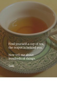 Our 16 favorite tea Quotes You can never get a cup of tea large enough or a book long enough to suit me. Lewis I say let the world go to hell, but I s Tea Time Quotes, Tea Quotes, Coffee Quotes, Dream Tea, Tea Bag Art, Discount Coffee, Coffee Logo, Cuppa Tea, Fun Cup