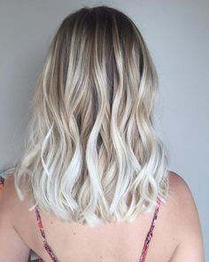 Textured White Blonde Balayage