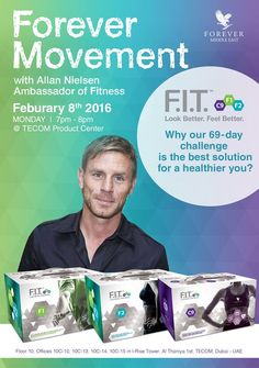 Forever Movement!!! Fitness Training by Allan Nielsen   On Monday, February 8th 2016, 7pm - 8pm @TECOM Product Center. Don't Miss out your chance to look your best!!!