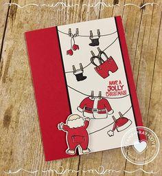 Stampin Up! - Hang Your Stocking Holiday catalog . Christmas Cards 2017, Homemade Christmas Cards, Stampin Up Christmas, Noel Christmas, Xmas Cards, Homemade Cards, Holiday Cards, Stampin Up Weihnachten, Winter Karten