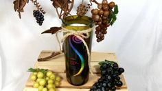 Recycled Wine Bottle Soy Wax Candle/Recycled by VinoCandleCellars