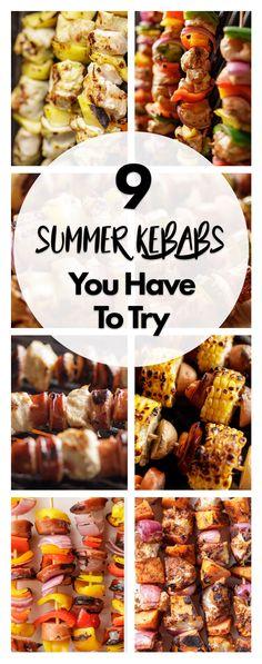 9 Kebab Recipes You Need to Try Kabob Recipes, Barbecue Recipes, Grilling Recipes, Cooking Recipes, Summer Recipes, New Recipes, Dinner Recipes, Healthy Recipes, Diabetic Recipes