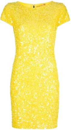 Alice + Olivia pretty yellow dress...love this