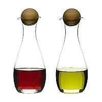 Set de 2 Botellas para Aceite y Vinagre con Tapón de Roble 18990