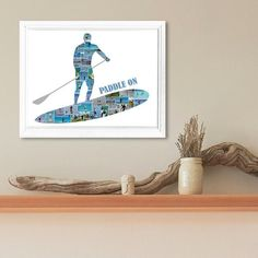 Paddle Boarding Photo Collage-Stand Up Paddling Collage-Sport Photo Collage-Custom Collage-Printable Collage-SUP Gift-Paddle Boarding Gift Photo Collages, Online Printing Services, Sports Photos, Paddle Boarding, All Pictures, Stand Up, Create Yourself, Printable, Colours