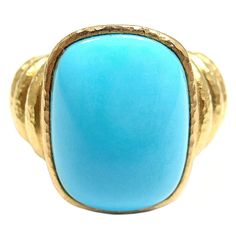 1stdibs - ELIZABETH LOCKE Turquoise Yellow Gold Ring explore items from 1,700  global dealers at 1stdibs.com