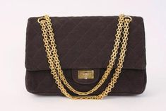 Vintage 60's Chanel Double Flap Handbag at Rice and Beans Vintage