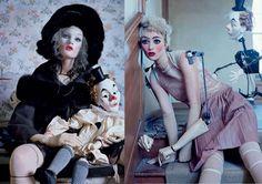 Italian Vogue, Oct. 2011: Photographer // Tim Walker Styling // Jacob K Models // Audrey Marnay & Kirsi Pyrhoen Hair // Malcom Edwards Makeup // Val Garland Set Designer // Rhea Thierstein