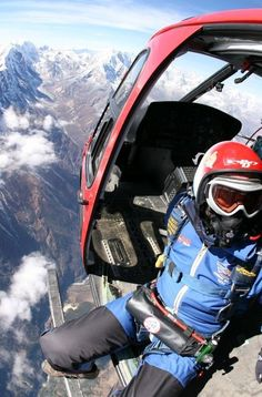 Climbing Everest not for you? Why don't you take the jump instead?! Tick off the highest peak in the world by taking a unique skydive from a dizzying height. At 29,500 ft with the landing sites at Syangboche Airport (12340ft) and Ama Dablam Base Camp (15,000ft), this is the highest commercial aerial adventure in the world. Photo by Everest Skydive.