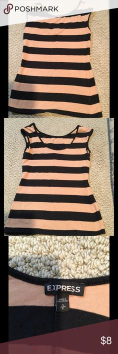 Express striped Tank EUC from Express, very gently used. Size small. Higher neckline in front and lower in back, this looks super cute on! Express Tops Tank Tops