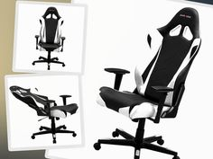 DXRacer Racing Bucket Seat Gaming Chair Black/White.#gaming,#games,#onlinegames,#playstation