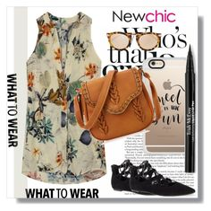 """NewChic !"" by dianagrigoryan ❤ liked on Polyvore featuring Casetify, Trish McEvoy and Karen Walker"
