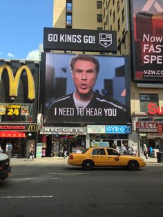 So the LA Kings just bought space a new digital billboard... right across from MSG.