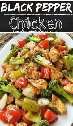 "the takeout tonight and make this easy ""Black Pepper Chicken"" instead!Skip the takeout tonight and make this easy ""Black Pepper Chicken"" instead! Healthy Dinner Recipes, Paleo Recipes, Asian Recipes, Cooking Recipes, Healthy Sausage Recipes, Healthy Chinese Recipes, Celery Recipes, Asian Chicken Recipes, Pepper Recipes"