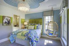 60 идей комнаты для девочки-подростка: цвет, зонирование, аксессуары http://happymodern.ru/komnata-dlya-devochki-podrostka/ Спальня в спокойных пастельных тонах