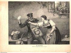 Bücher, Zeitschriften, Comics - Der längst Ersehnte /Druck , entnommen aus Zeitschrift/1896