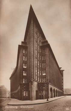 Photographs of German expressionist buildings from the early 20th century