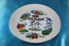 Vintage-Six-Flags-Over-Mid-America-Hanging-Souvenir-PLATE-1979-St-Louis