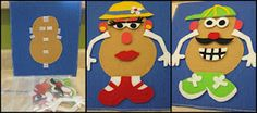 Mrs. and Mr. Potato Head and other bag ideas.