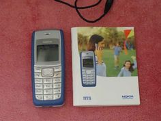 Nokia 1110 blue (2005) Classic used mobile, with instruction manual and original