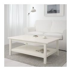 "HEMNES Coffee table from IKEA in ""white stain"" - again, excited to have the double level *M*"
