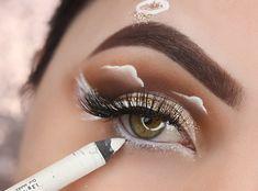 Crazy Eye Makeup, Under Eye Makeup, Makeup Eye Looks, Angel Makeup, Hair Makeup, Makeup Eyes, Halloween Eyeshadow, Crazy Eyes, Colorful Eyeshadow