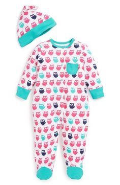 cf8cf217f7a1e Offspring Infant Girls  Owls Footie