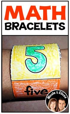 Fun, wearable learning bracelets for colors, numbers & shapes - great for preschool or kindergarten!