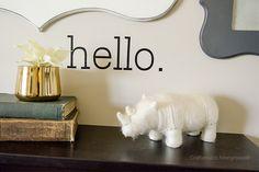 Craftaholics Anonymous® | hello. Wall Vinyl Decal